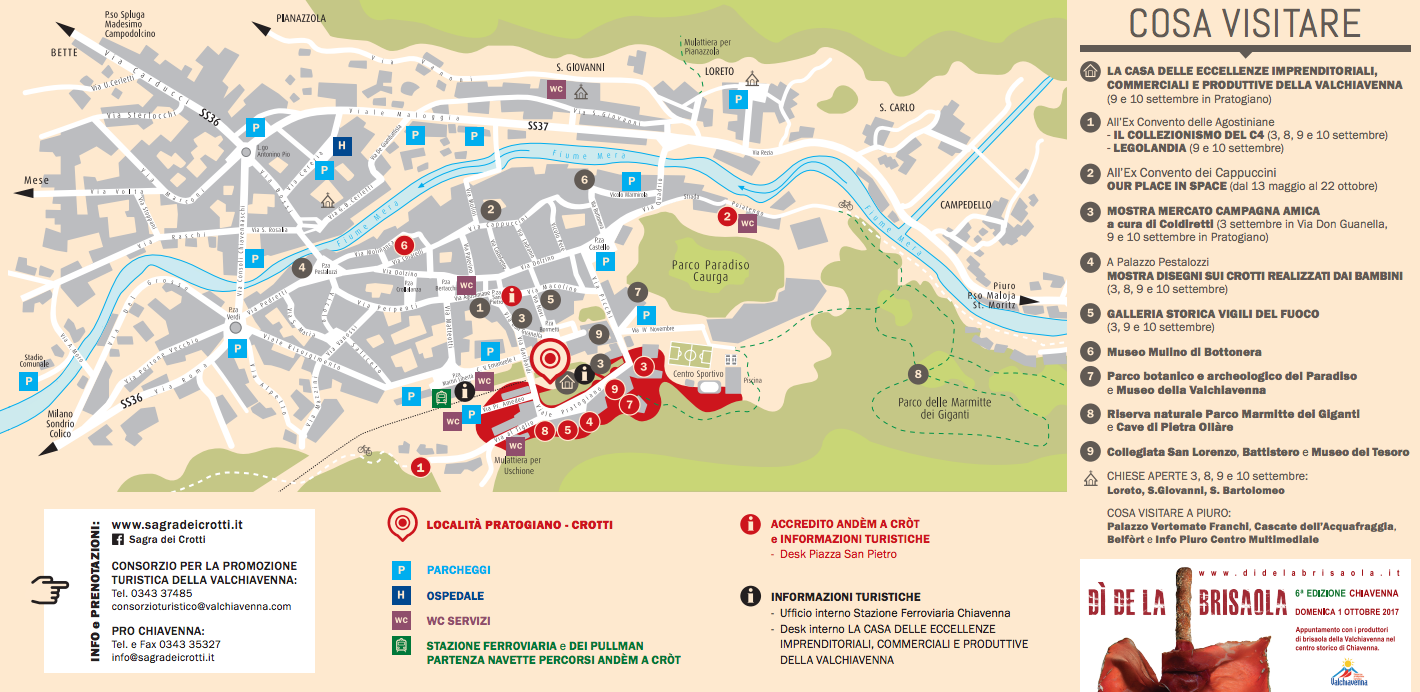 Mappa Sagra dei Crotti Chiavenna