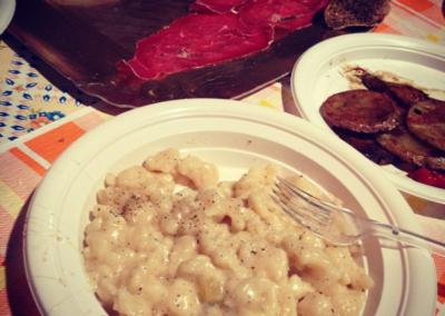 Bresaola gnocchetti e patate alla piotta