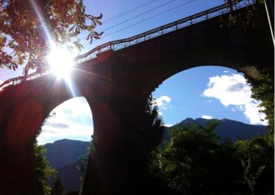 Chiavenna scorcio ponte ferrovia